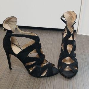 Sexy Zara Black Suede Heels
